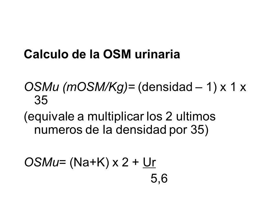 Calculo de la OSM urinaria