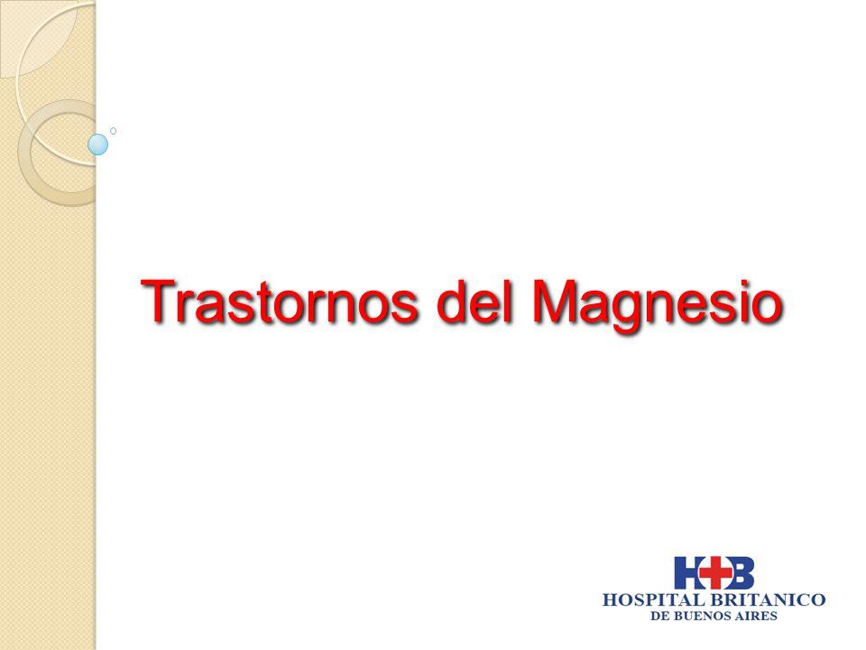 Trastornos del Magnesio