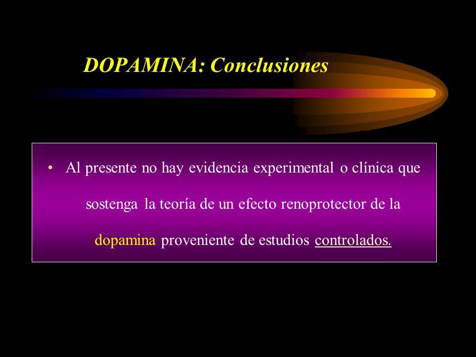 DOPAMINA: Conclusiones