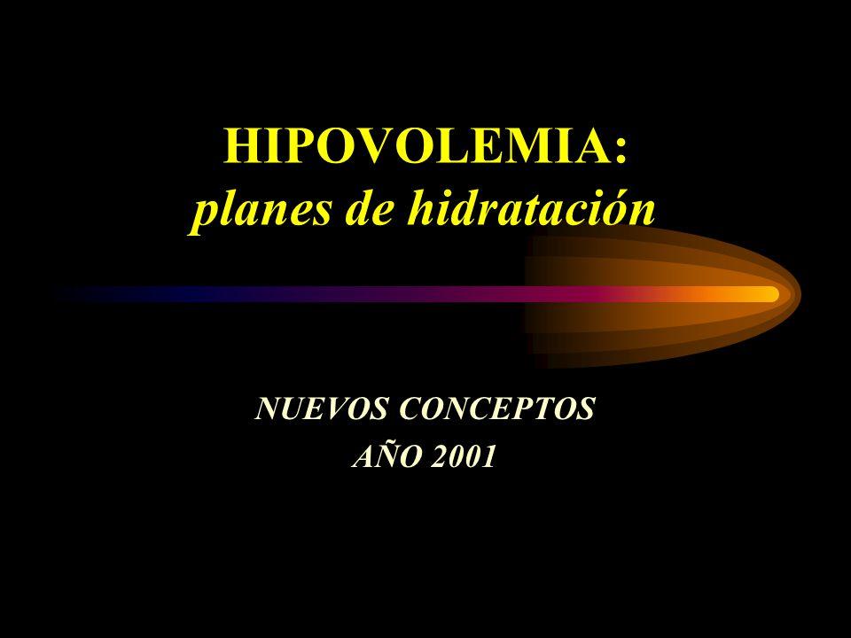 HIPOVOLEMIA: planes de hidratación