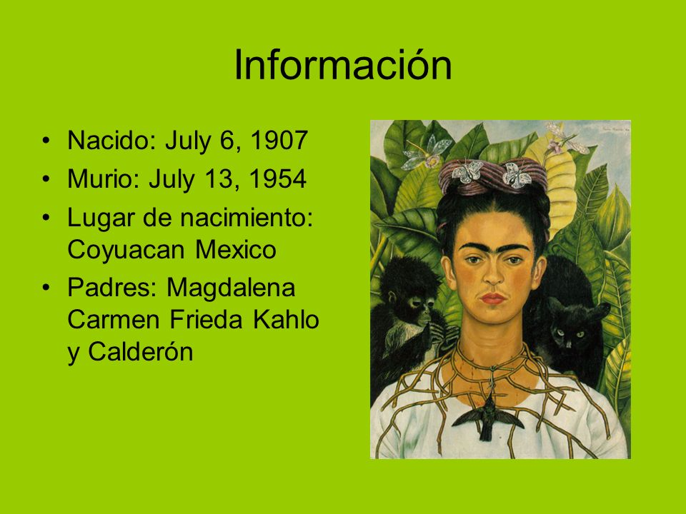 Información Nacido: July 6, 1907 Murio: July 13, 1954