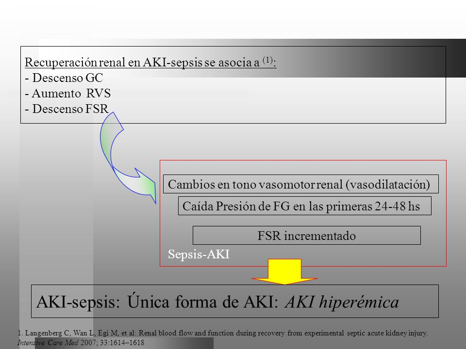 AKI-sepsis: Única forma de AKI: AKI hiperémica