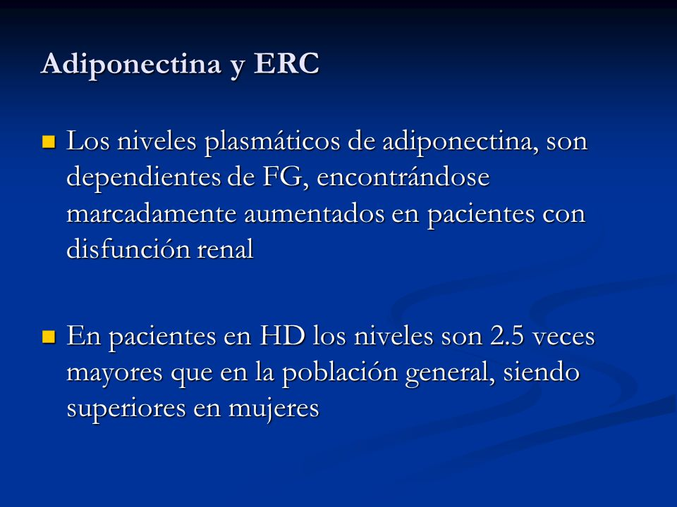 Adiponectina y ERC