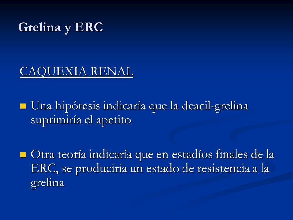 Grelina y ERC CAQUEXIA RENAL