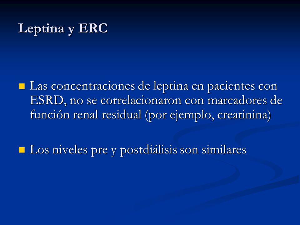 Leptina y ERC