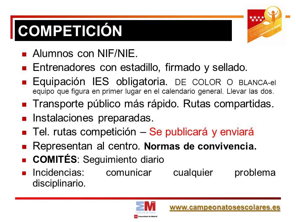 COMPETICIÓN Alumnos con NIF/NIE.