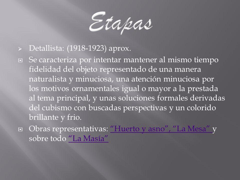 Etapas Detallista: (1918-1923) aprox.