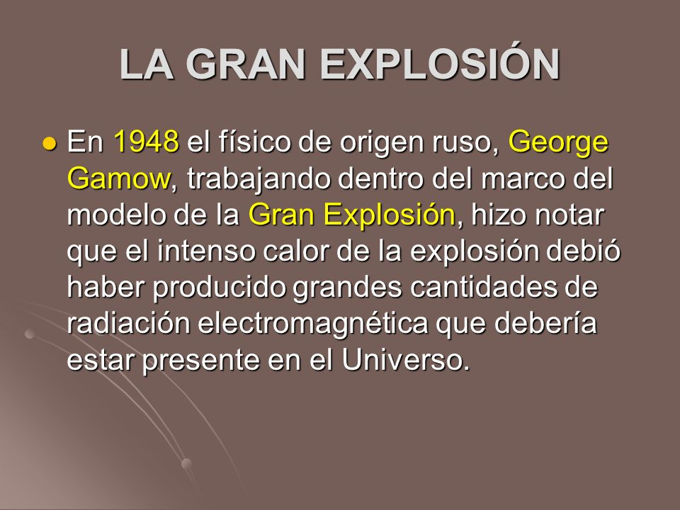 LA GRAN EXPLOSIÓN