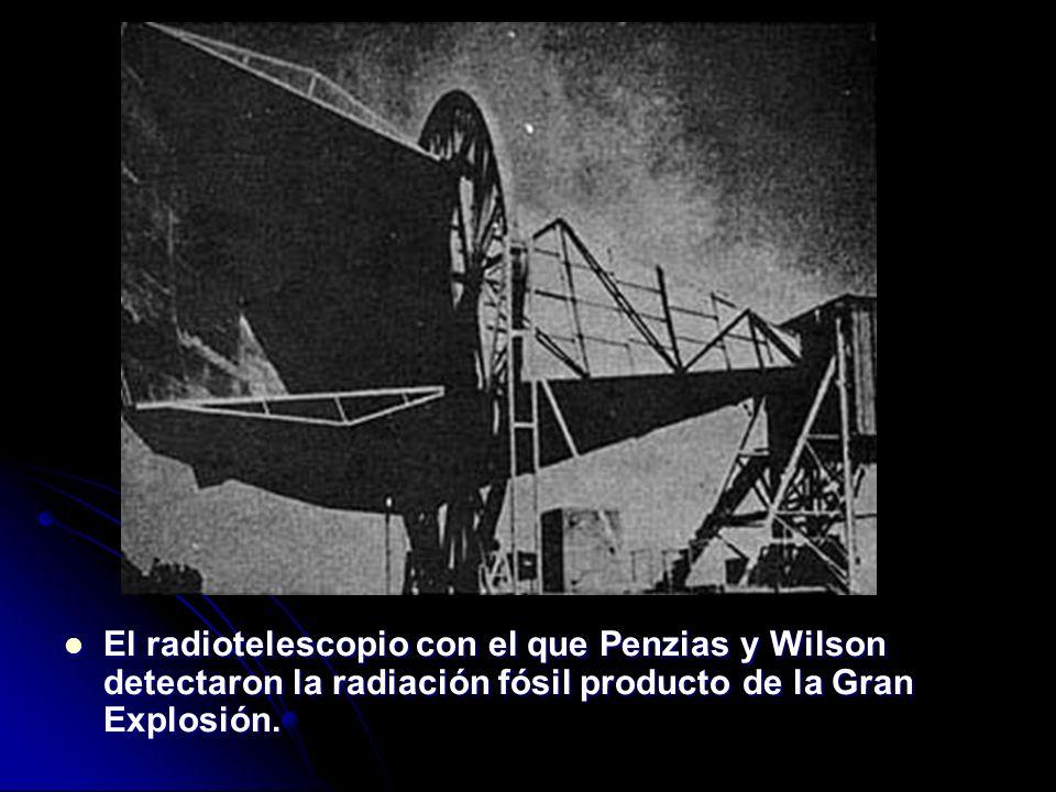 El radiotelescopio con el que Penzias y Wilson detectaron la radiación fósil producto de la Gran Explosión.