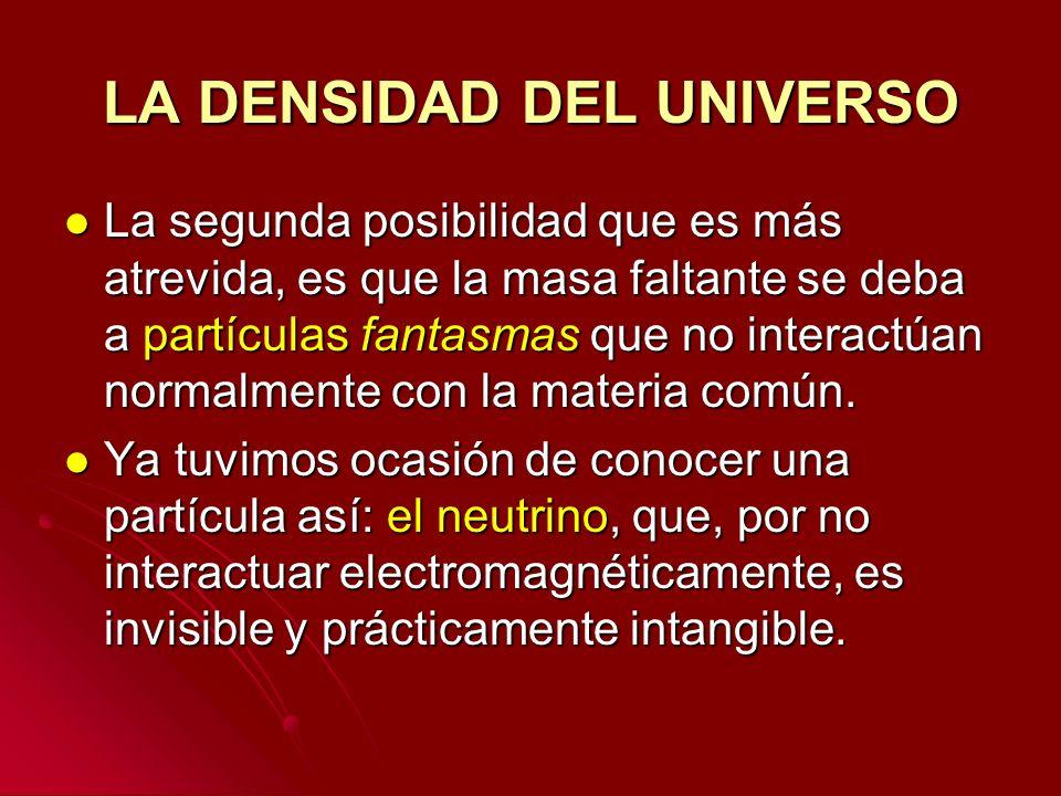 LA DENSIDAD DEL UNIVERSO