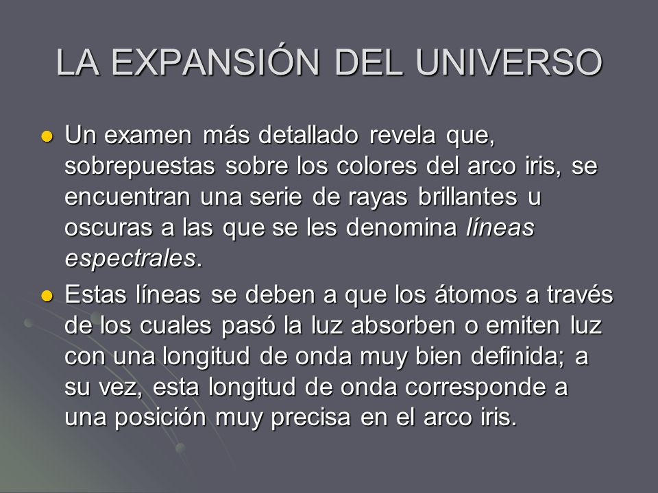 LA EXPANSIÓN DEL UNIVERSO