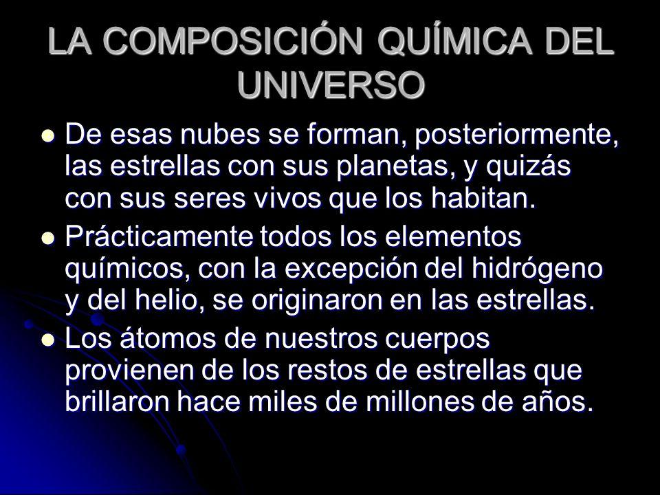 LA COMPOSICIÓN QUÍMICA DEL UNIVERSO