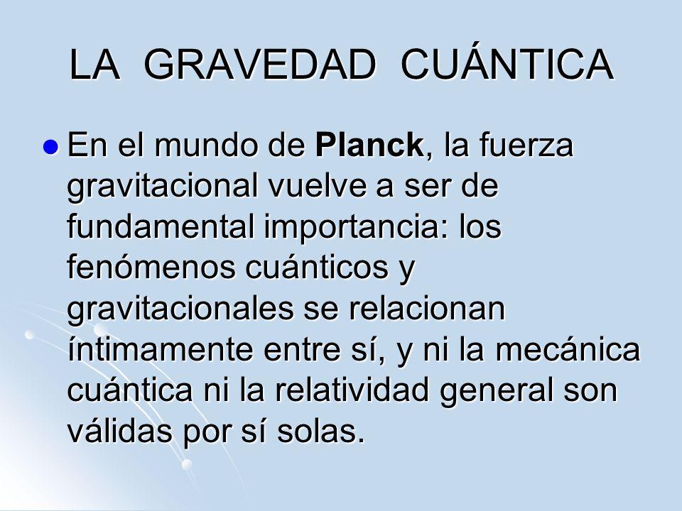 LA GRAVEDAD CUÁNTICA