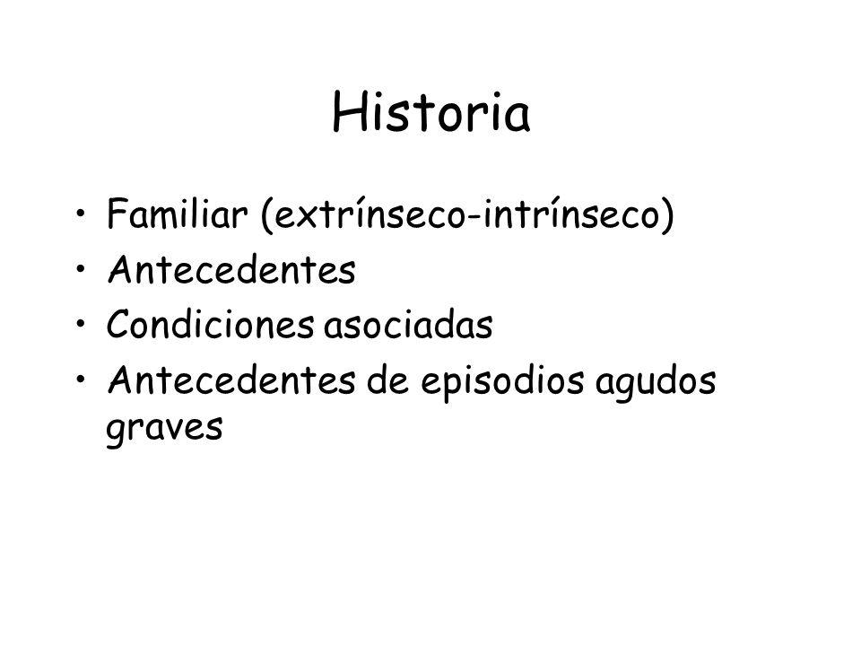 Historia Familiar (extrínseco-intrínseco) Antecedentes