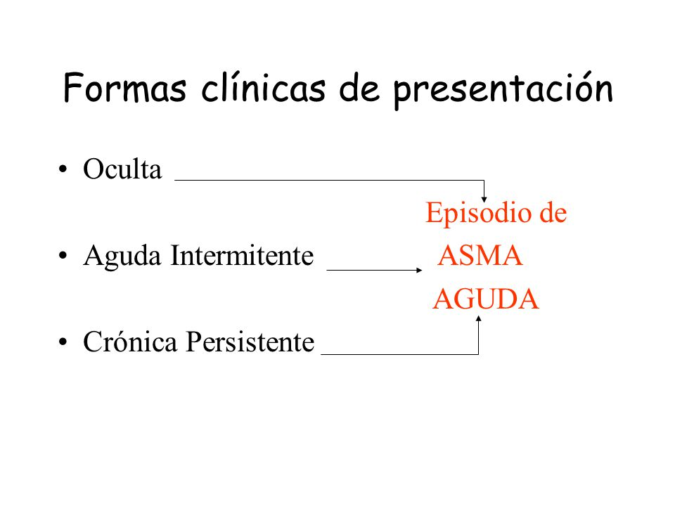 Formas clínicas de presentación