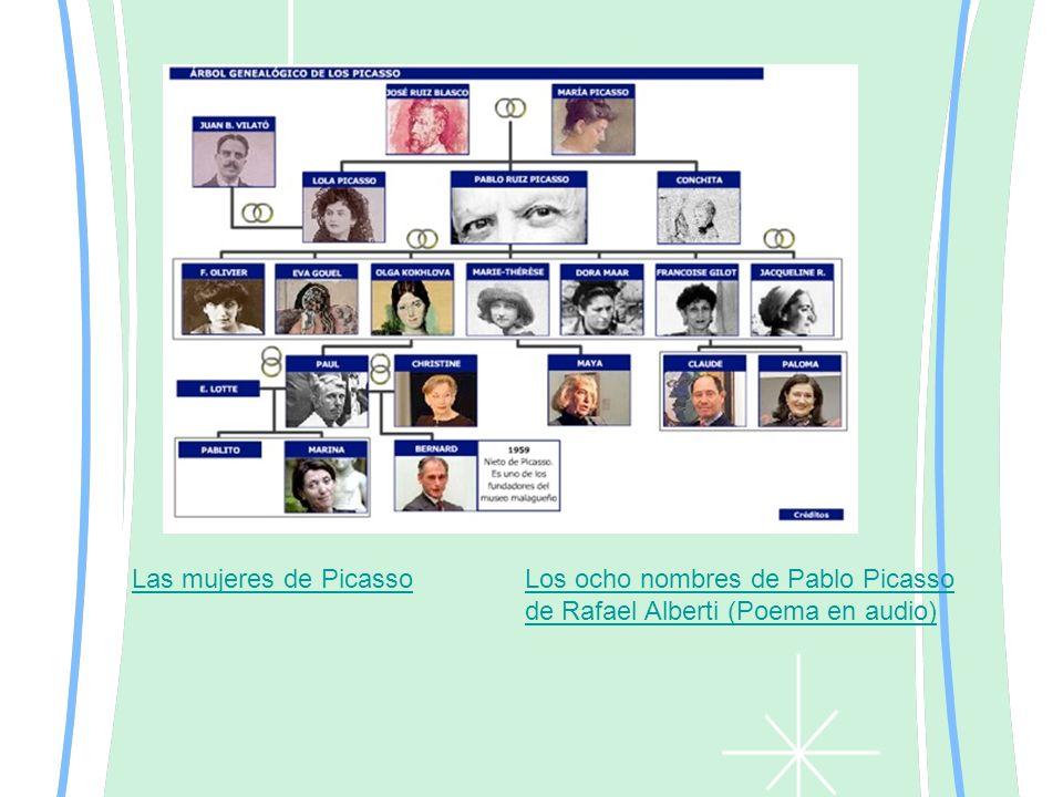 Las mujeres de Picasso Los ocho nombres de Pablo Picasso de Rafael Alberti (Poema en audio)