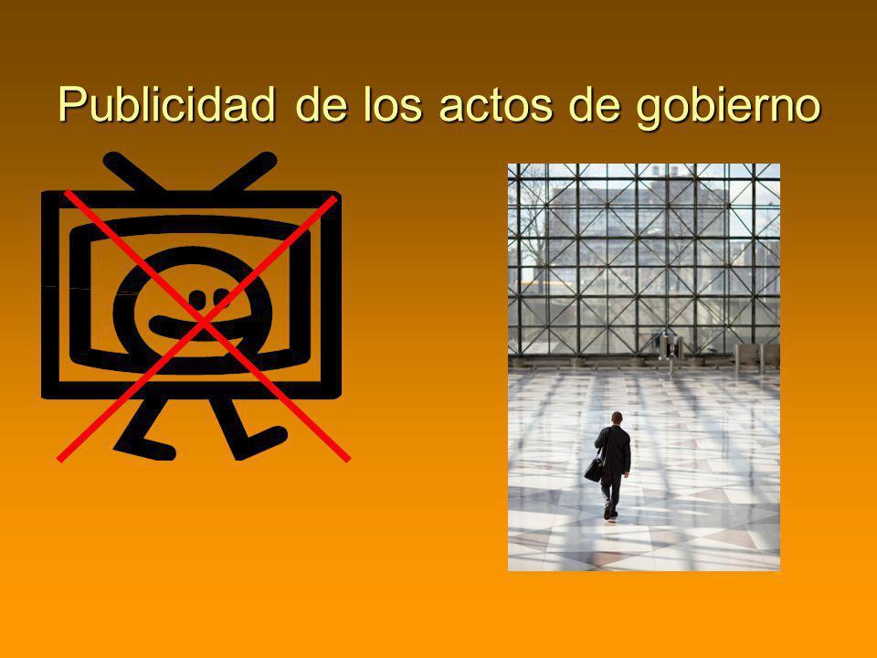 Publicidad de los actos de gobierno