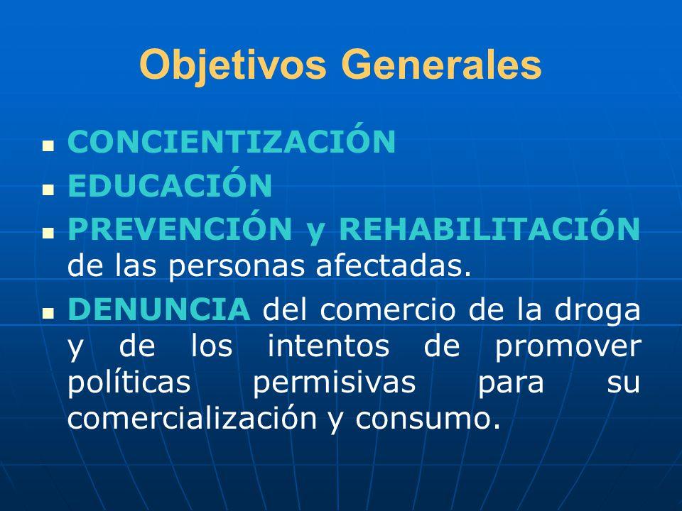 Objetivos Generales CONCIENTIZACIÓN EDUCACIÓN