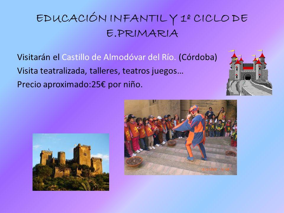 EDUCACIÓN INFANTIL Y 1º CICLO DE E.PRIMARIA