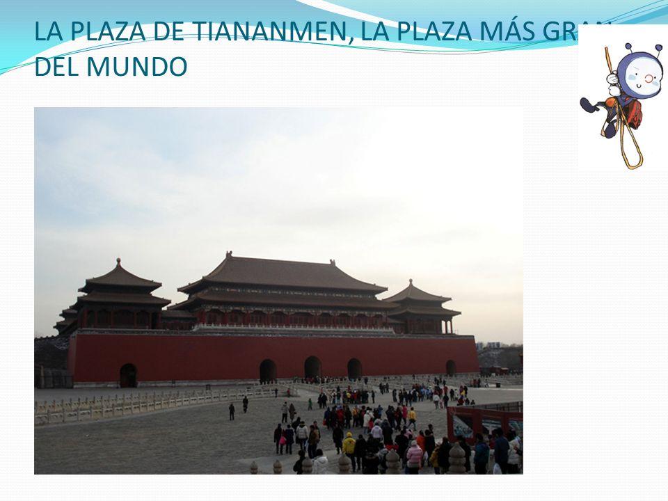 LA PLAZA DE TIANANMEN, LA PLAZA MÁS GRAN DEL MUNDO
