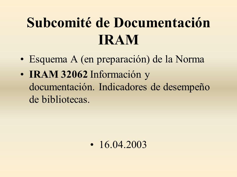 Subcomité de Documentación IRAM