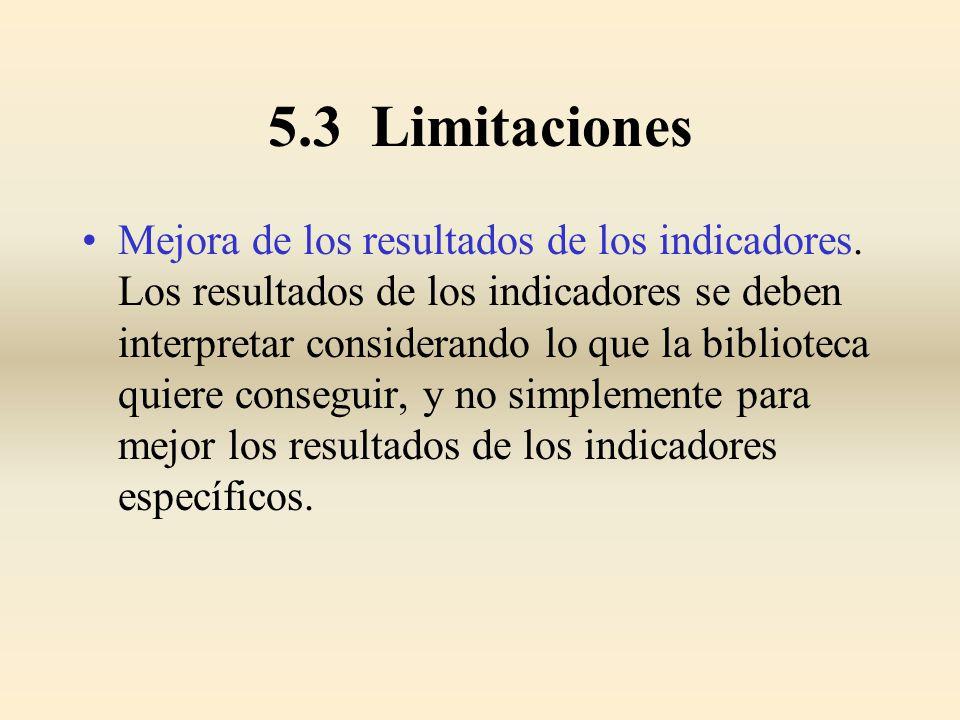 5.3 Limitaciones