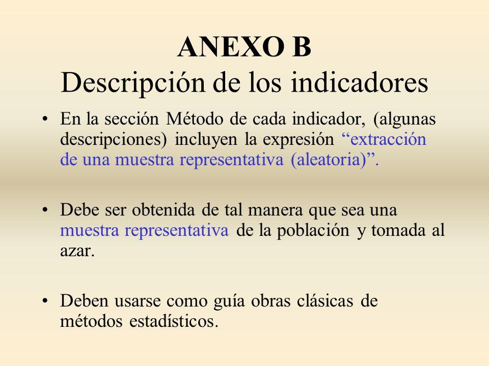 ANEXO B Descripción de los indicadores