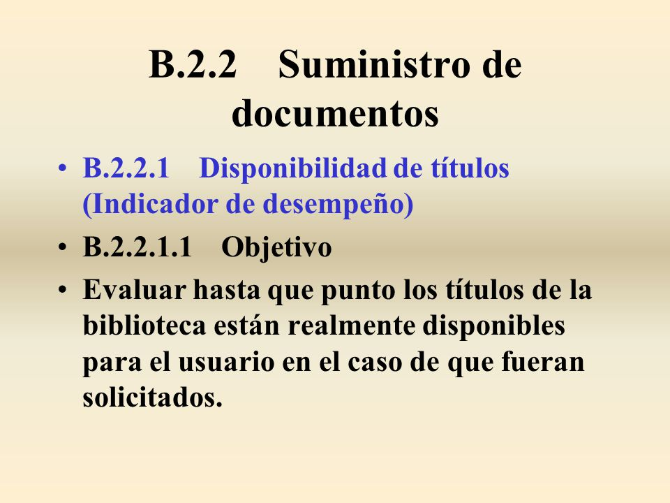 B.2.2 Suministro de documentos