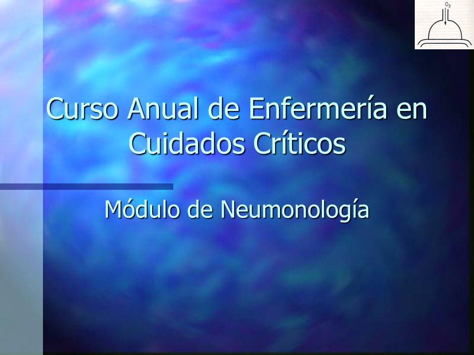 Curso Anual de Enfermería en Cuidados Críticos Módulo de Neumonología