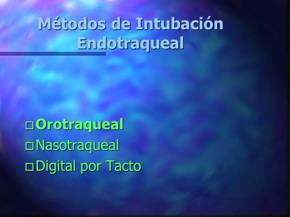 Métodos de Intubación Endotraqueal
