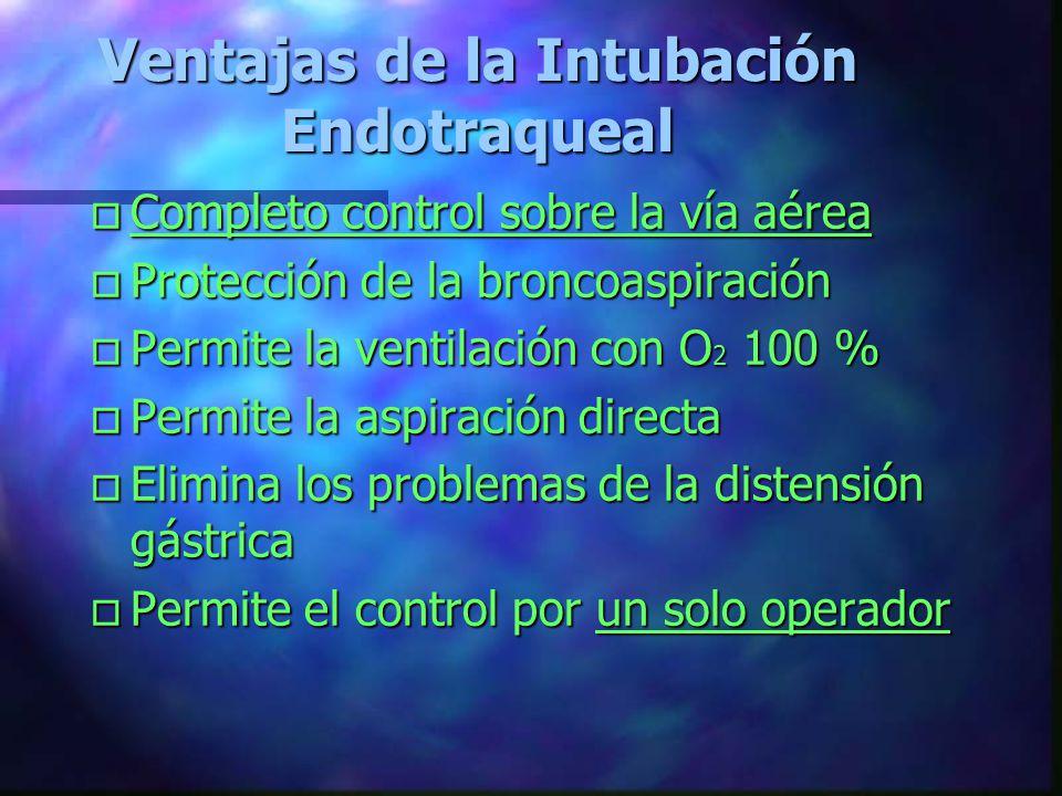 Ventajas de la Intubación Endotraqueal