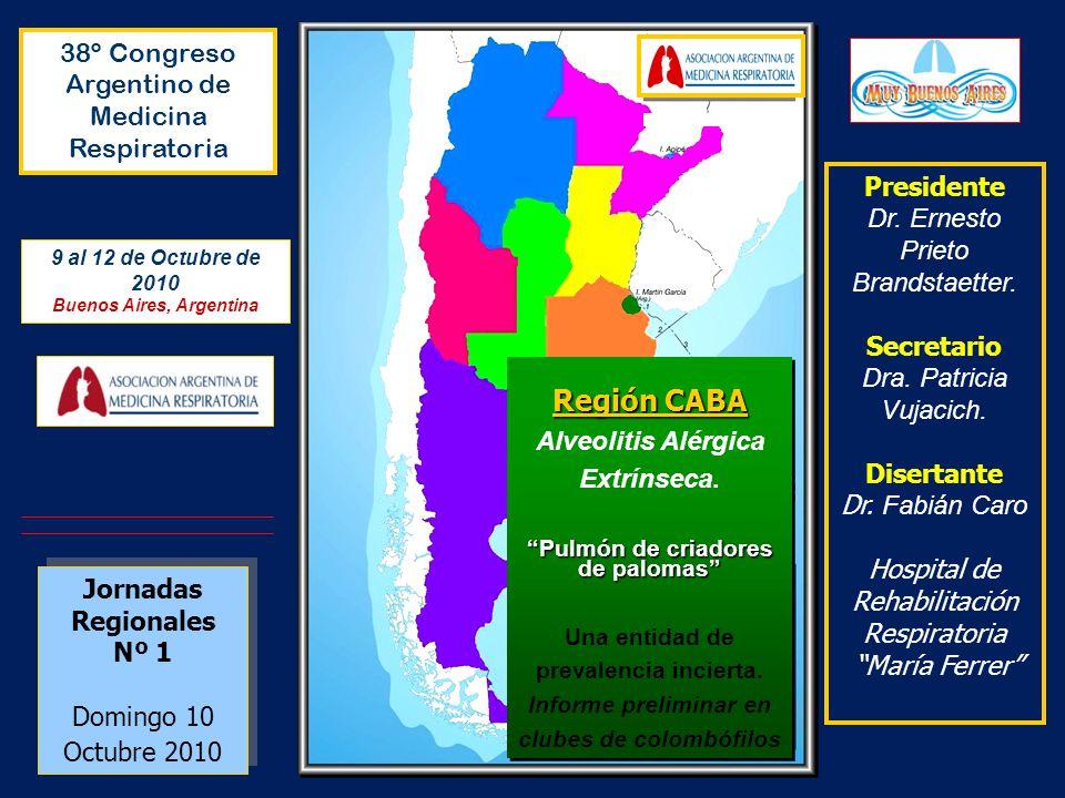 Región CABA 38º Congreso Argentino de Medicina Respiratoria Presidente