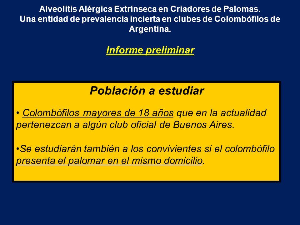 Alveolítis Alérgica Extrínseca en Criadores de Palomas