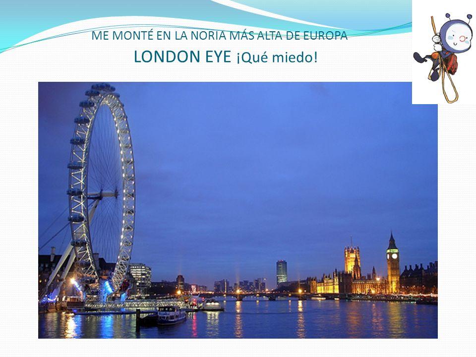 ME MONTÉ EN LA NORIA MÁS ALTA DE EUROPA LONDON EYE ¡Qué miedo!