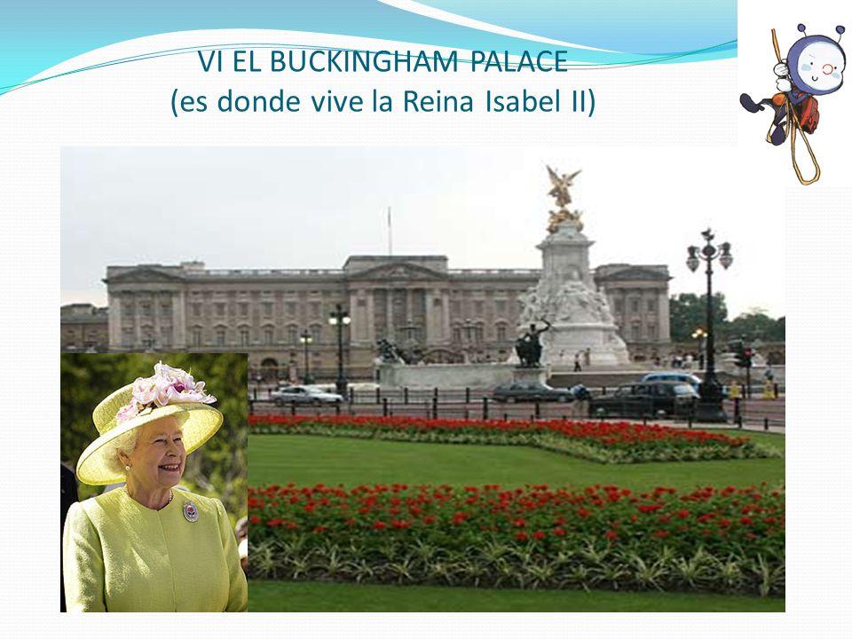 VI EL BUCKINGHAM PALACE (es donde vive la Reina Isabel II)