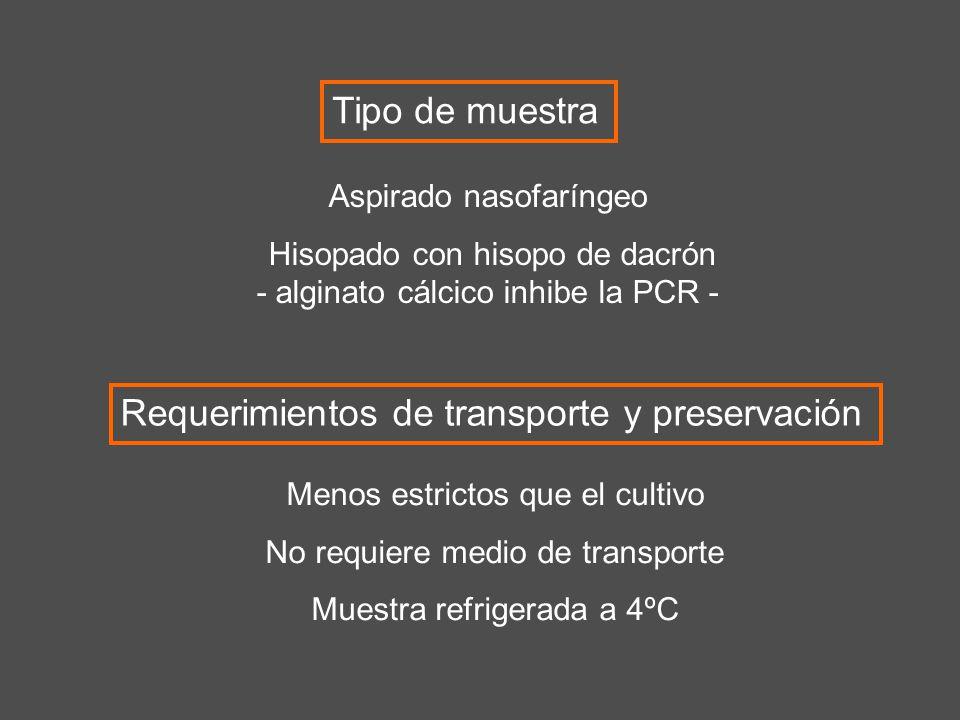 Requerimientos de transporte y preservación
