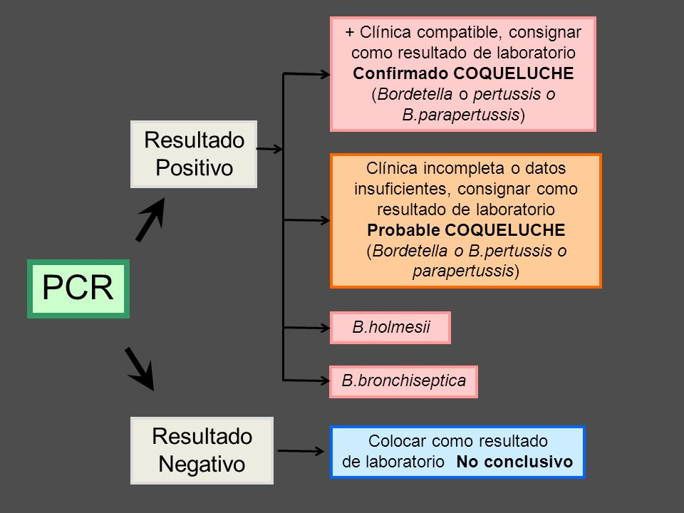 PCR Resultado Positivo Resultado Negativo
