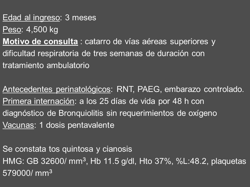 Antecedentes perinatológicos: RNT, PAEG, embarazo controlado.