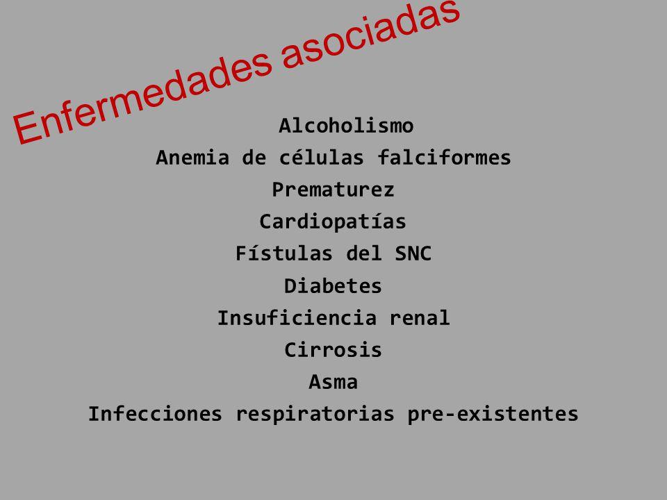 Anemia de células falciformes Infecciones respiratorias pre-existentes