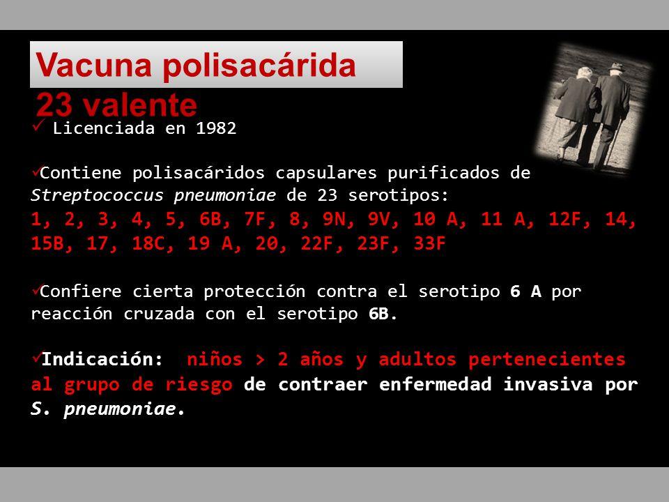 Vacuna polisacárida 23 valente