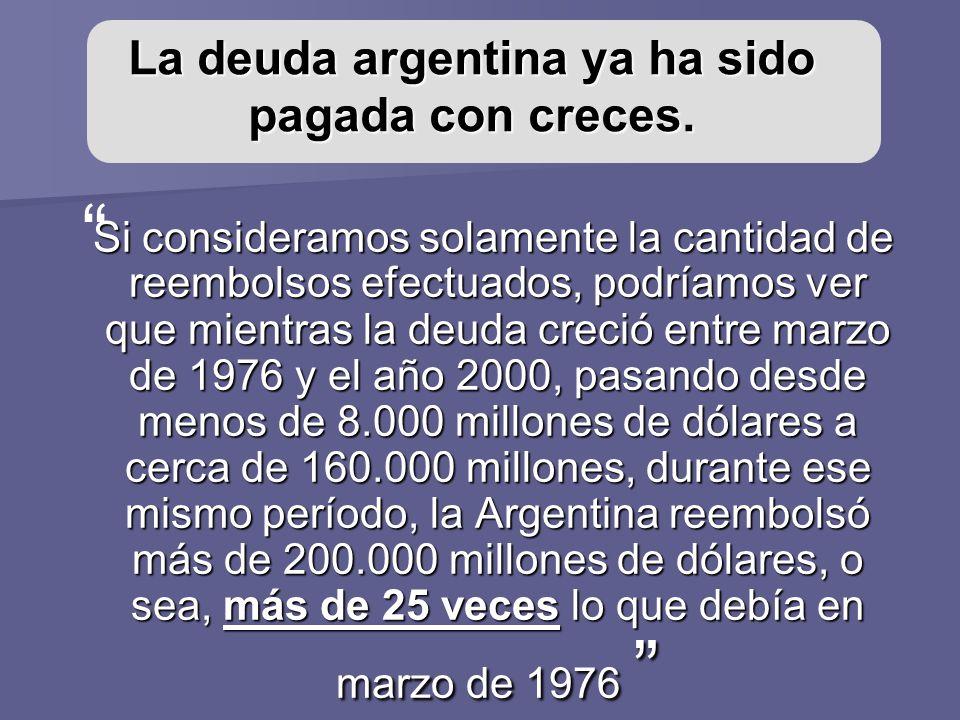 La deuda argentina ya ha sido pagada con creces.
