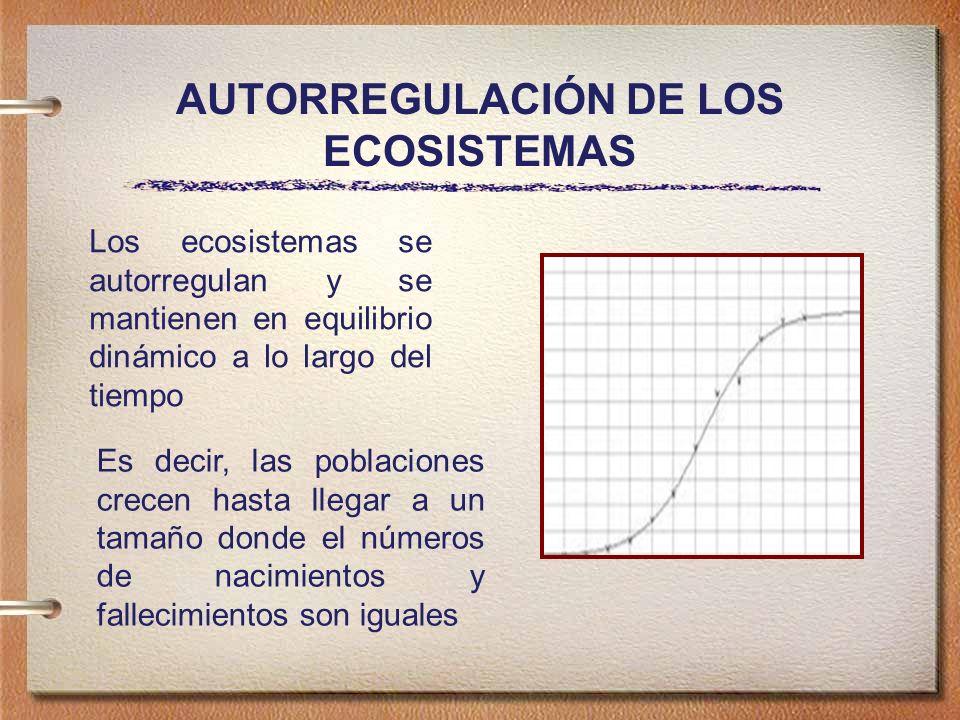 AUTORREGULACIÓN DE LOS ECOSISTEMAS