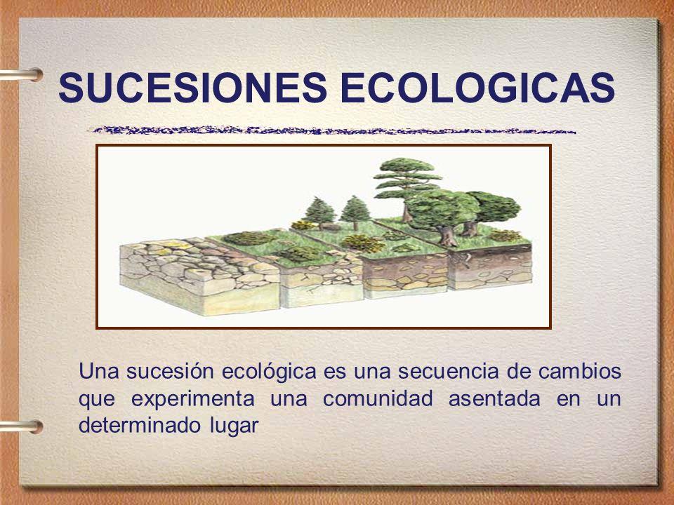 SUCESIONES ECOLOGICAS