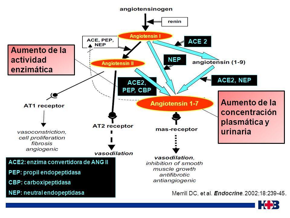 Aumento de la actividad enzimática