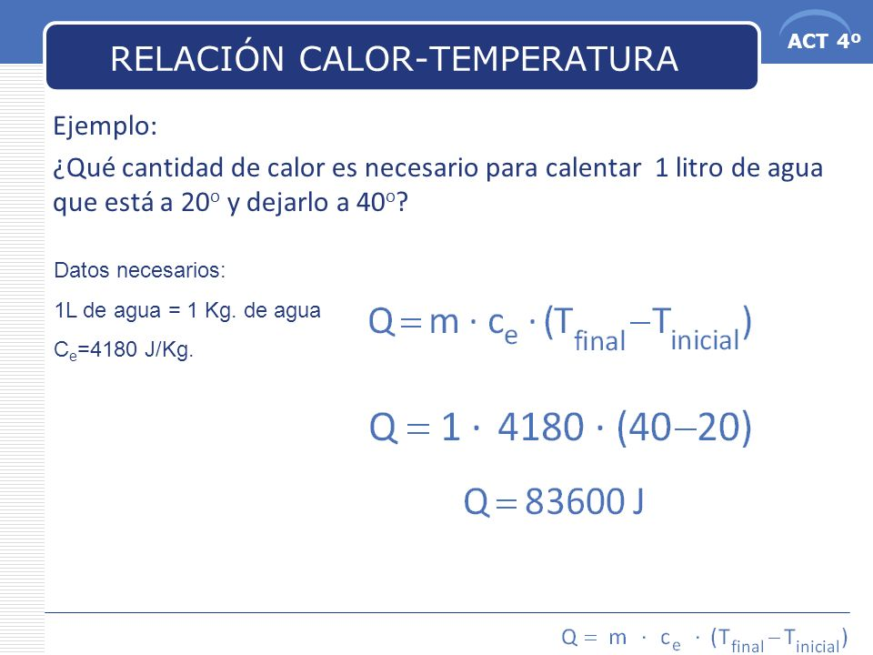 RELACIÓN CALOR-TEMPERATURA