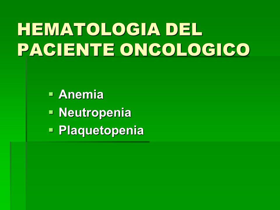 HEMATOLOGIA DEL PACIENTE ONCOLOGICO