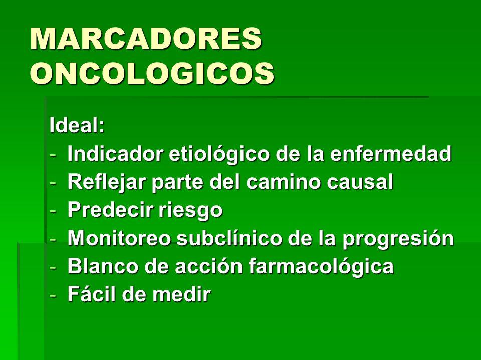 MARCADORES ONCOLOGICOS