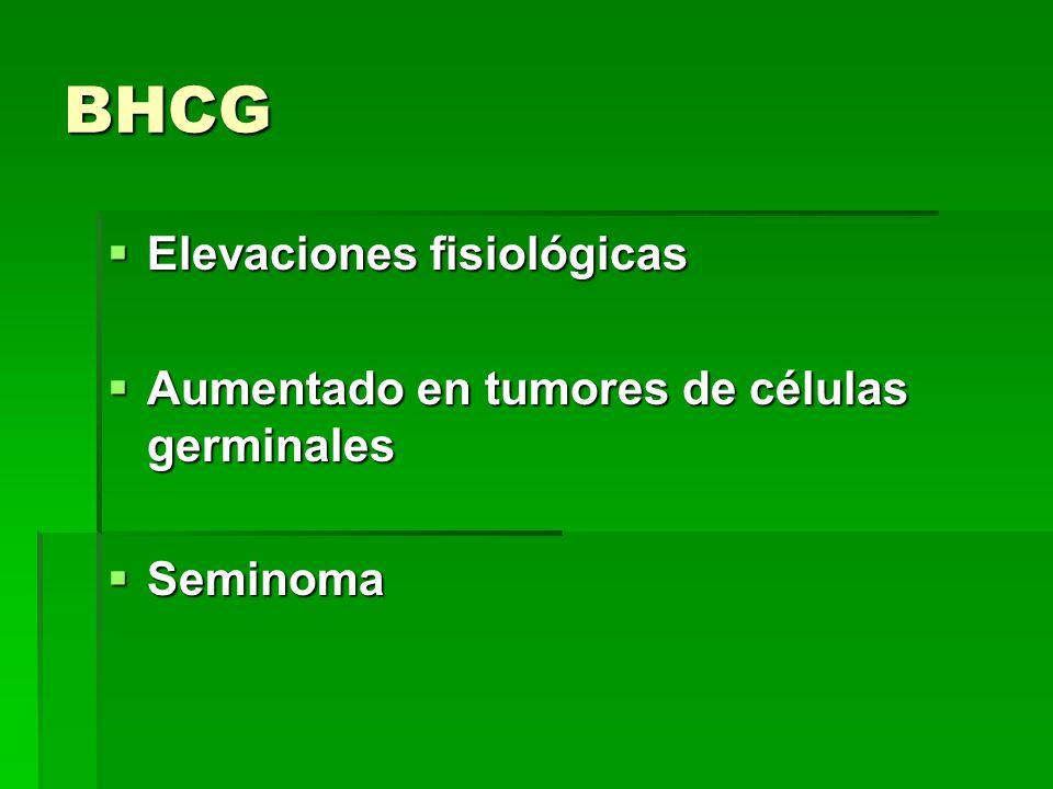 BHCG Elevaciones fisiológicas