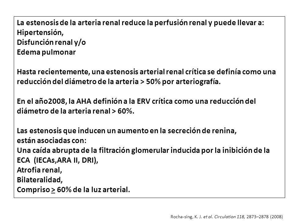 Las estenosis que inducen un aumento en la secreción de renina,