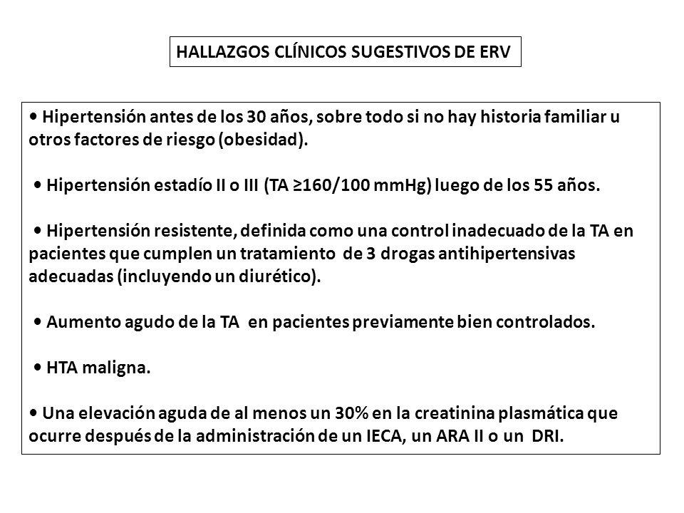 HALLAZGOS CLÍNICOS SUGESTIVOS DE ERV
